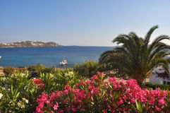 Beautiful landscape on greek island mykonos Stock Image