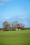 Beautiful landscape of green farmland and blue sky Royalty Free Stock Photos