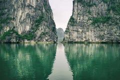 Beautiful landscape in Ha long Bay stock photos