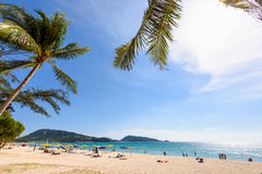 Beautiful landscape Hat Patong Beach Royalty Free Stock Image