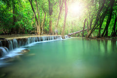 Beautiful landscape of hauy mae kamin water falls in pure and de Royalty Free Stock Photos