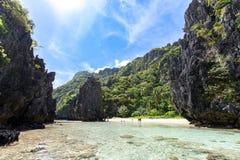 Beautiful landscape Hidden Beach in El nido, Palawan. Philippines stock images