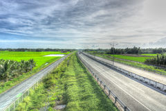 Beautiful landscape of high angle view in highway Stock Image