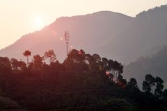 Beautiful landscape of hill station in India. royalty free stock photography