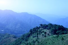 Beautiful landscape of hill station in India. stock image