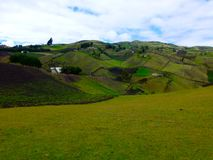 Beautiful landscape, hills around Otavalo, Ecuador royalty free stock images