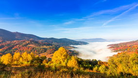 Beautiful landscape with hills and mountais stock footage