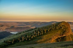 Beautiful landscape with hills and river Royalty Free Stock Photos