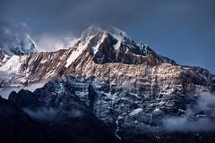 Beautiful Himalayan Mountains royalty free stock photos
