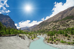 Beautiful landscape in Himalayas Stock Photo