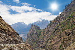 Beautiful landscape in Himalayas Royalty Free Stock Photo