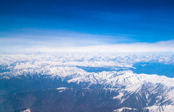 Beautiful landscape of Himalayas mountains ,View from the airpla Royalty Free Stock Photos