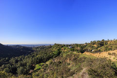 Beautiful landscape on Hollywood Hills trail Stock Images