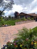 Beautiful Landscape and Home. Shot for a landscape maintenance company Stock Images