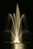 Landscaping Water Fountain at Night Royalty Free Stock Photo
