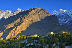 Beautiful Landscape of Hunza Valley in Autumn season. Royalty Free Stock Image