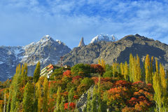 Beautiful Landscape of Hunza Valley in Autumn season. Royalty Free Stock Photography