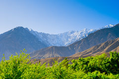 Beautiful Landscape of Hunza Valley in Autumn season. Northern Area of Pakistan Royalty Free Stock Images
