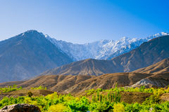 Beautiful Landscape of Hunza Valley in Autumn season. Northern Area of Pakistan Stock Photo