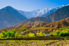 Beautiful Landscape of Hunza Valley in Autumn season. Northern Area of Pakistan Royalty Free Stock Photos