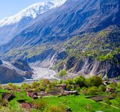 Beautiful Landscape of Hunza Valley in Spring season Royalty Free Stock Photo