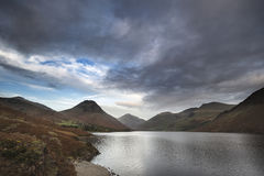 Beautiful landscape image of mountains around Wast Water in Lake Stock Photo