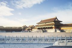 Beautiful landscape of Imperial Palace. Beijing, China. February 23, 2018: Beautiful landscape of Imperial Palace of the Forbidden City in Beijing Stock Photo