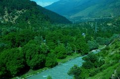 Vibrant landscape near Srinagar-7 Royalty Free Stock Image