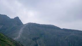 Beautiful landscape of Kelud Volcano. In Blitar & Kediri, East Java, the beauty of the Kelud Volcano landscape after the last eruption in 2014 stock photo
