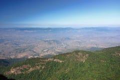 Beautiful landscape of Kew Mae Pan viewpoint at Doi Inthanon nature park , Chiang Mai , Thailand.  Stock Photo