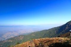 Beautiful landscape of Kew Mae Pan viewpoint at Doi Inthanon nature park , Chiang Mai , Thailand.  Stock Image