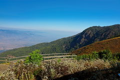 Beautiful landscape of Kew Mae Pan viewpoint at Doi Inthanon nature park , Chiang Mai , Thailand Stock Image