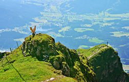 Beautiful landscape on Kitzbuhel peak,Tirol,Austria Royalty Free Stock Photo