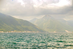 Beautiful landscape Kotor bay Boka Kotorska near the town of Luta, Montenegro, Europe. Stock Photos