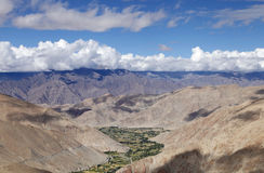 Beautiful Landscape: Ladakh Batholith and Indus group at the backdrop Royalty Free Stock Images