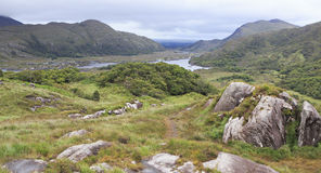 Beautiful landscape of Ladies View in Killarney Stock Image