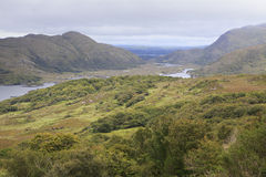 Beautiful landscape of Ladies View in Killarney Stock Images