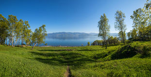 Beautiful landscape of lake Baikal. In Russia royalty free stock photography