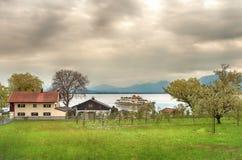 Beautiful landscape from a lake island Royalty Free Stock Photo