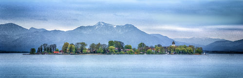 Beautiful landscape with a lake island Royalty Free Stock Photography