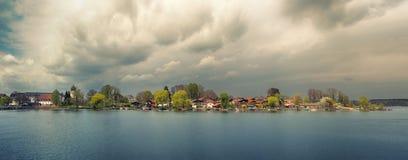 Beautiful landscape with a lake island Royalty Free Stock Image