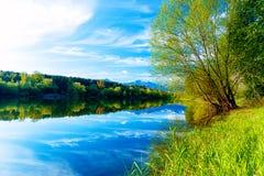 Beautiful landscape, Lake and snow mountain in background. Slovakia Liptovska Mara, in region Liptov. stock photos