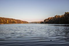 Landscape at the lake on summer. royalty free stock photo