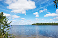 Beautiful landscape on the lake of Valdai Stock Photography