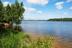 Beautiful landscape on the lake of Valdai Royalty Free Stock Image