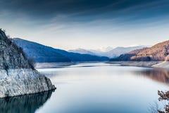 Landscape of the lake Vidraru. Beautiful landscape of the lake Vidraru Romania Stock Photo