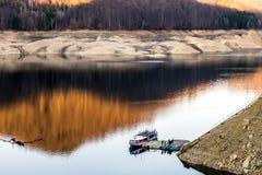 Landscape of the lake Vidraru. Beautiful landscape of the lake Vidraru Romania Stock Photography