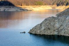 Landscape of the lake Vidraru. Beautiful landscape of the lake Vidraru Romania Royalty Free Stock Photos