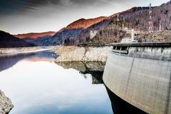 Landscape of the lake Vidraru. Beautiful landscape of the lake Vidraru Romania Stock Image