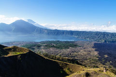 Beautiful landscape with lake and volcanoes, Bali, Indonesia. View from Gunung Batur, Bali, Indonesia Stock Image